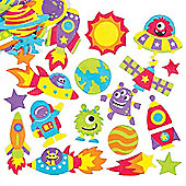 Solar System Foam Stickers Creative Educational Set for Children to Decorate and Embellish Space Crafts (Pack of 120)