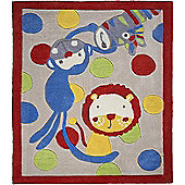 Jungle Rug, Monkeys and Lion