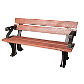 BrackenStyle Recycled Plastic Bench - Red