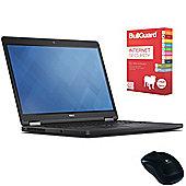 """Dell Latitude E5250 12.5"""" Laptop Intel Core i5-5300U 8GB 500GB Win 7 Pro with Bullguard Antivirus & Mouse"""