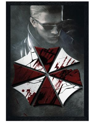 Resident Evil Black Wooden Framed Key Art Poster