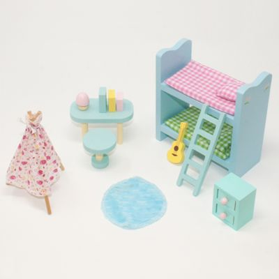 Sweetbee Children's Bedroom Dolls House Furniture Set