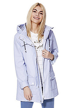 F&F Coated Shower Resistant Fisherman Jacket - Pastel blue