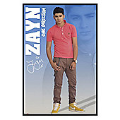 One Direction Gloss Black Framed Zayn 1D Poster