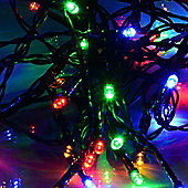 100 Multi-Coloured LED Solar String Lights