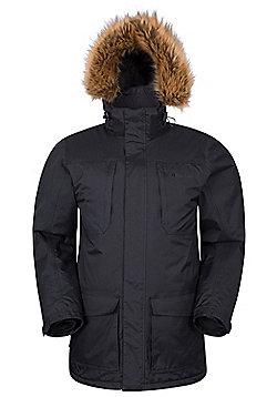Mountain Warehouse Canyon Mens Long Waterproof Jacket - Black