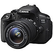 Canon EOS 700D SLR Camera Black 18-55mm IS STM 18MP 3.0Touch LCD FHD