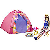 Barbie  Sisters Camping Skipper and tent