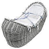 Kinder Valley Pod Moses Basket & Stand, Grey & White