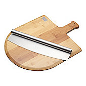 KitchenCraft Italian Pizza Board and Knife Serving Set