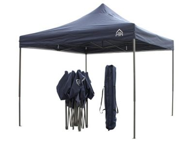 All Seasons Gazebos, Heavy Duty, Fully Waterproof, 3m x 3m Pop up Gazebo in Navy Blue