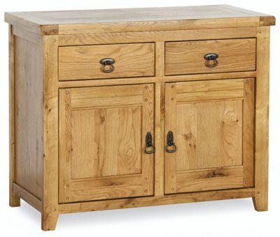 Kelburn Furniture Veneto Rustic Oak 2 Door Sideboard