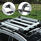 Outsunny Roof Tray Platform Rack Luggage Box Carrier Universal Fit Transit w/ Aluminum Alloy