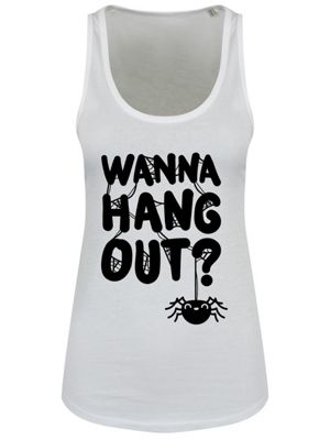 Wanna Hang Out? Women's White Floaty Tank Vest