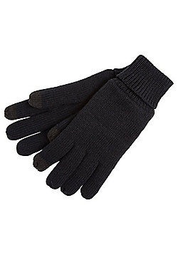 "F&F Fleece Lined Touch Screen Gloves with Thinsulate""™ - Black"
