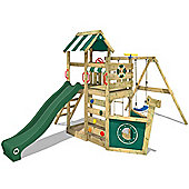 Wickey Seaflyer Wooden Climbing Frame With Green Slide