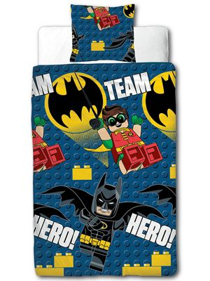 Lego Batman Movie Hero Single Duvet Cover Set