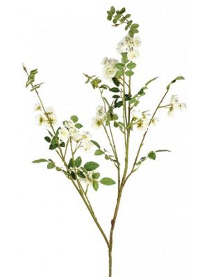 Artificial - Rose Branch - Cream