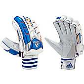 adidas Vector Cricket Batting Glove Adult White/Blue - Left Hand Large Mens