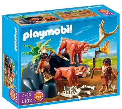 Playmobil 5102 Saber-Toothed Cat with Hunters