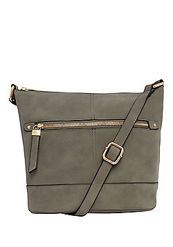 F&F Faux Suede Cross-Body Bucket Bag