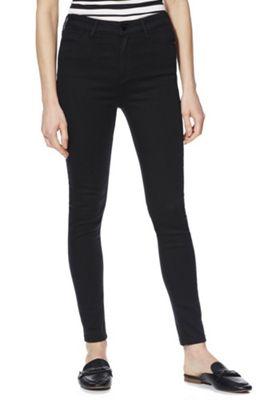 F&F Contour High Rise Skinny Jeans with LYCRA® BEAUTY Black 10 Regular leg
