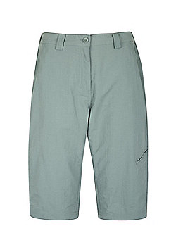 Mountain Warehouse Womens Lightweight Explore Long Shorts with Multiple Pockets - Green