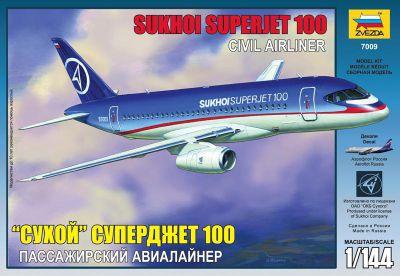 Zvezda - Sukhoi Superjet 100 - Civil Airliner - 1:144 Scale 7009
