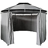 Charles Bentley Round Patio Gazebo With Curtain Party Tent