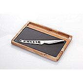 Judge Slate and Acacia Wood Cheese Board and Knife Set 28 x 21cm