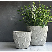 Flower Concrete Plant Pot Cover - Large