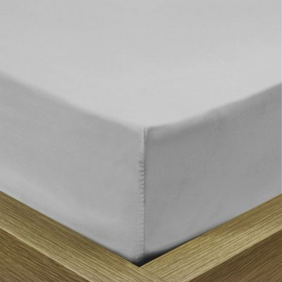 Julian Charles Pale Silver Luxury 180 Thread Count Fitted Sheet - Double