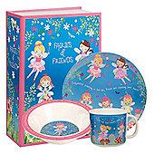 Children's Melamine 3pcs Breakfast Set – Fairies & Friends, Children's Melamine Sets, Girl's Breakfast Sets