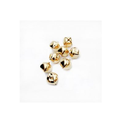 Craft Factory Gold Jingle Bells 16mm Pack of 100