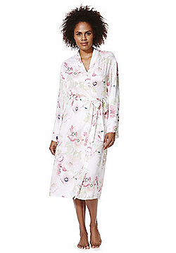 F&F Signature Floral Print Dressing Gown - Multi