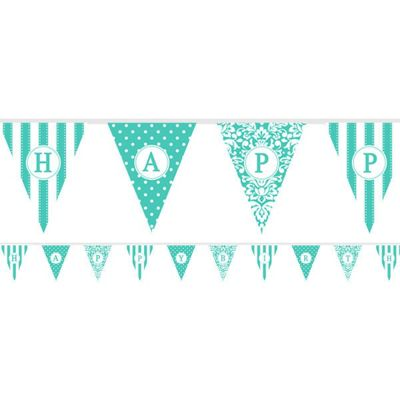 Banners Personalise It Paper Pennant Banner - Teal