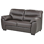 Buxton Medium 2.5 Seater Leather Sofa, Chocolate Brown