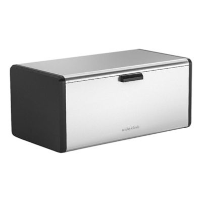 Morphy Richards Bread Bin With Chopping Board - Stainless Steel