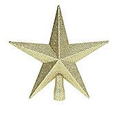 Champagne Gold Glitter Star Christmas Tree Topper (20cm) by Premier