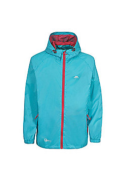 Trespass Boys Qikpac Waterproof Packaway Jacket - Aqua
