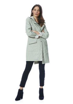 F&F Rubberised Shower Resistant Hooded Raincoat Mint 10