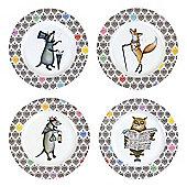 BIA Funimal Plates, Set of 4