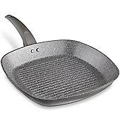 VonShef 28cm Marble Griddle Pan/ Fry/ Frying Pan/ Serving Plate/ Sizzling Skillet