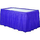 Royal Blue Plastic Tableskirt - 73cm x 4.2m