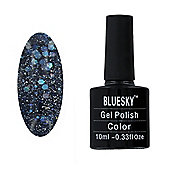 Bluesky BLZ Range 10 ml Gel Polish - BLZ25 - Diamond Glitter Deep Purple