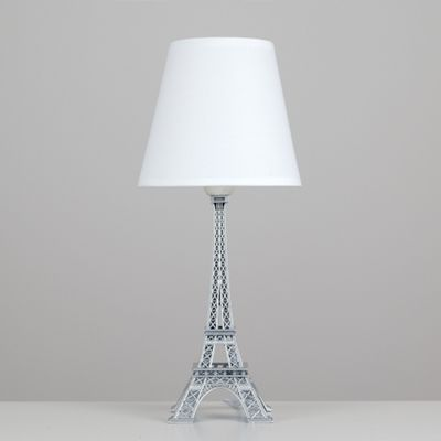 Eiffel Tower Table Lamp, Chrome U0026 White
