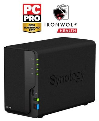 Synology DiskStation DS218+/16TB-IW 2-Bay 16TB(2x8TB Seagate IronWolf) all-around NAS storage solution