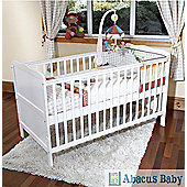 Isabella - Cot Bed/Toddler Bed W/ Pocket Sprung Mattress & Teething Rails-White