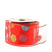 "Ribbon Organza Wired Edge - 2.5"" x 10y - Red"