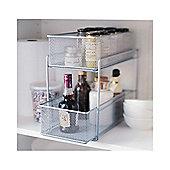 Design Ideas Silver Wire Mesh Kitchen Cupboard Basket 351289